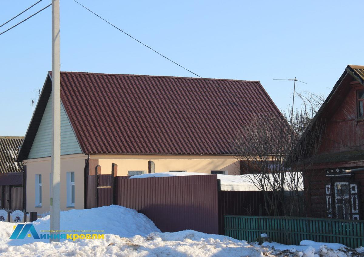 монтаж металлочерепицы для одноэтажного дома
