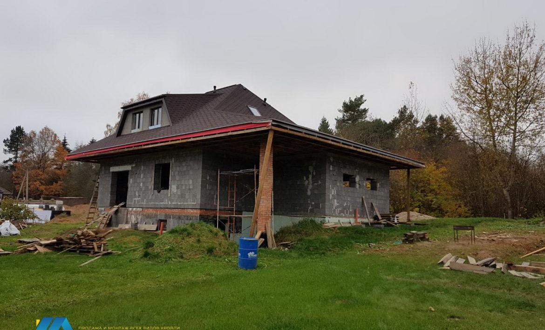 Монтаж крыши для мансарды