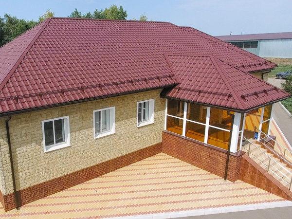 Металлочерепица Kamea для одноэтажного дома