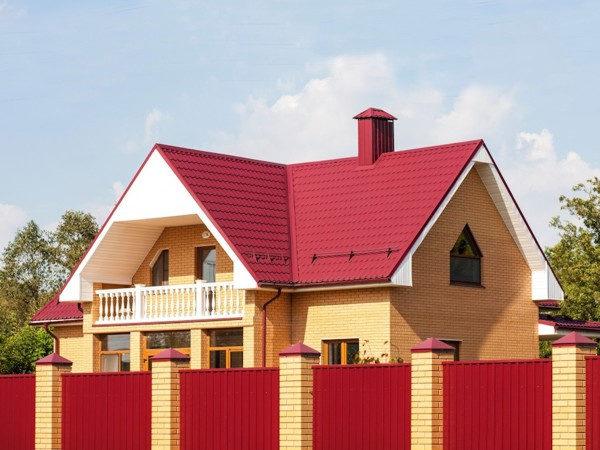 Металлочерепица Classic для двухэтажного дома