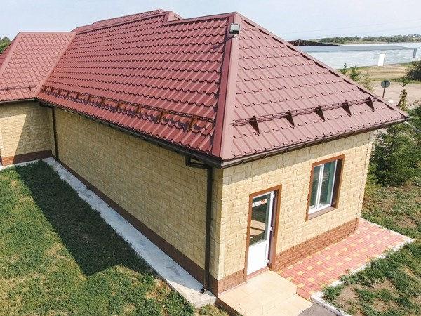 Металлочерепица Kamea для одноэтажных домов