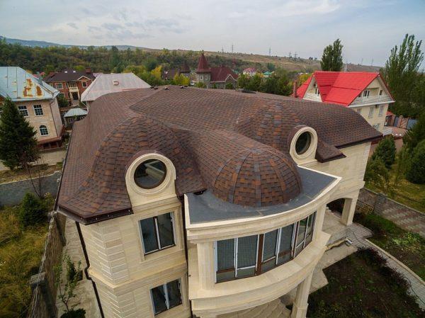 Гибкая черепица Джаз круглая крыша