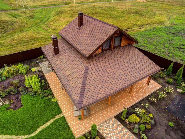 Гибкая черепица Ультра Фокстрот для крыши с мансардой