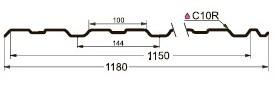 Профнастил (профлист) GL-10R