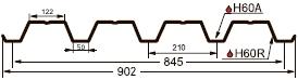 Профнастил (профлист) GL-60R