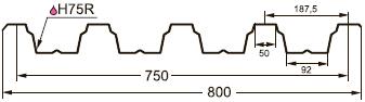 Профнастил (профлист) GL-75R