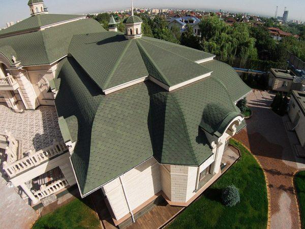 Гибкая черепица Ультра Самбо для крыши сложной конструкции