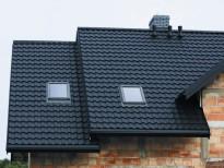 Металлочерепица Status для масардной крыши