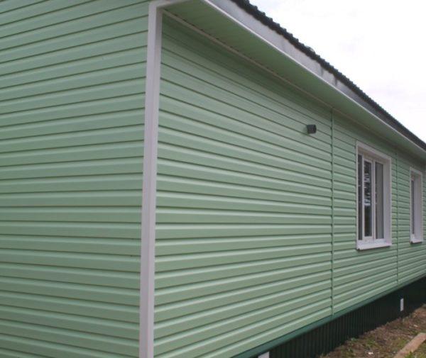САЙДИНГ D4,5 DUTCHLAP (Дёке) зеленый для фасада дома