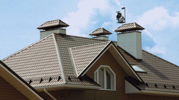 Металлочерепица Monterrey для крыши дома