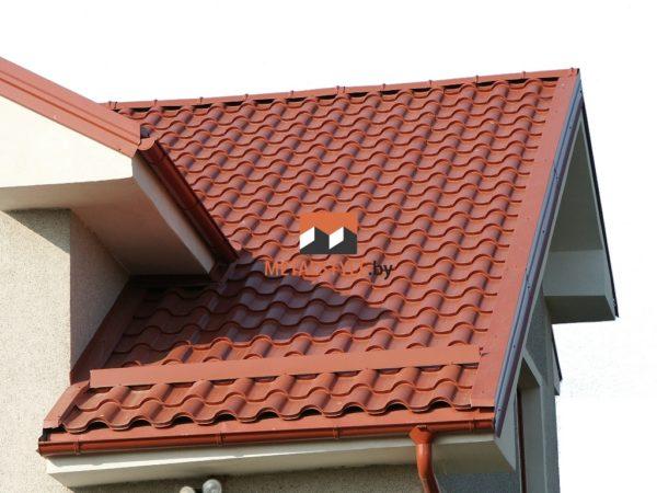 Металлочерепица Premium для двухскатной крыши