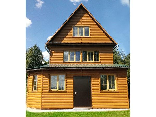"""Сайдинг под бревно """"Блок-хаус"""" (GL) отделка трехэтажного дома"""