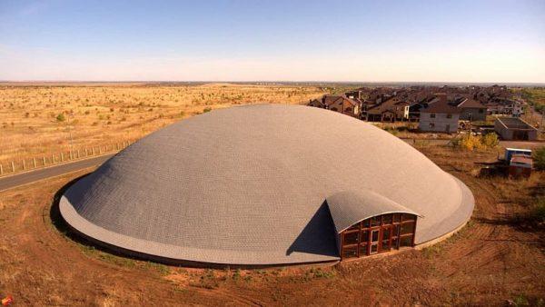 Гибкая черепица Ранчо для круглой крыши