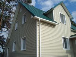 САЙДИНГ ВИНИЛОВЫЙ BLOCKHAUS (Дёке) фасад пример дома