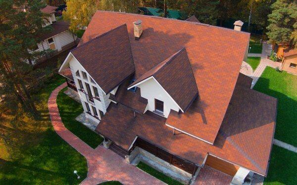 Гибкая черепица Классик Фламенко готовая крыша