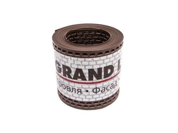 Вентиляционная ПВХ-лента карниза (GL) коричневая