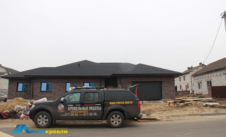 Готовая крыша с водосточной системой