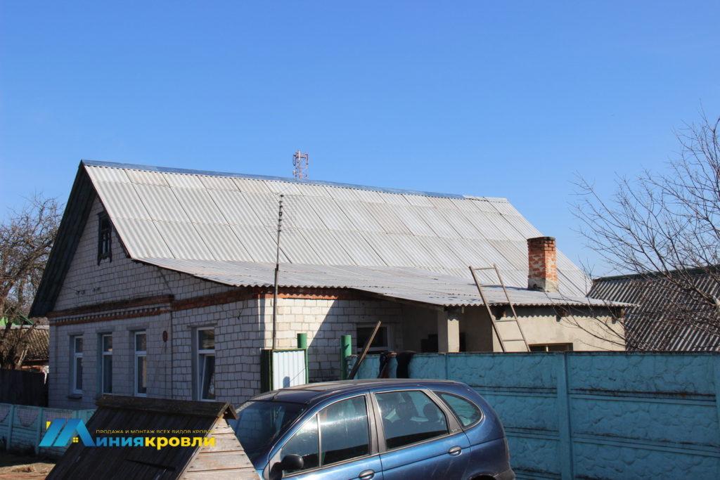 Ремонт крыши. Замена старого шифера на новый